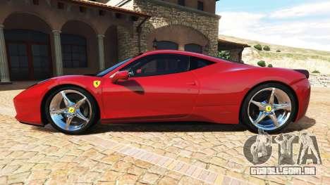 GTA 5 Ferrari 458 Italia v2.0 [add-on] vista lateral esquerda
