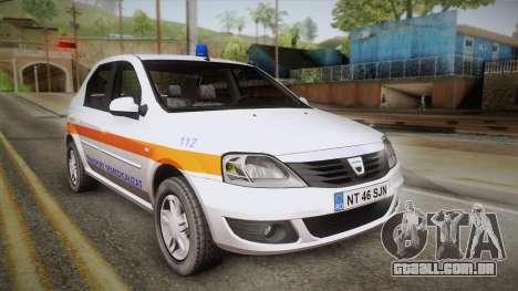 Dacia Logan Facelift Ambulanta v3 para GTA San Andreas