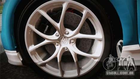 Bugatti Chiron 2017 v2.0 Korean Plate para GTA San Andreas traseira esquerda vista