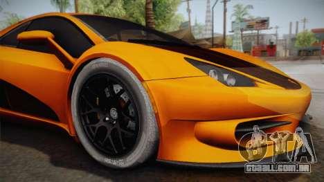HTT Plethore LC750 2012 para GTA San Andreas vista traseira