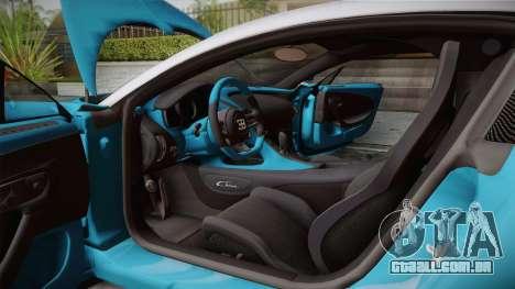 Bugatti Chiron 2017 v2.0 German Plate para GTA San Andreas vista direita