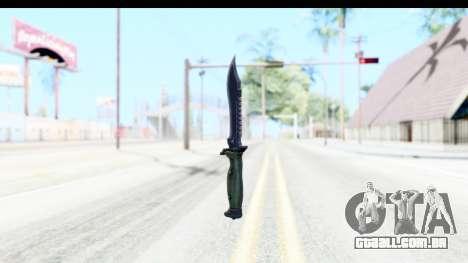 CS:GO - Bowie Knife para GTA San Andreas segunda tela