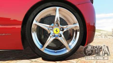 GTA 5 Ferrari 458 Italia v2.0 [add-on] traseira direita vista lateral