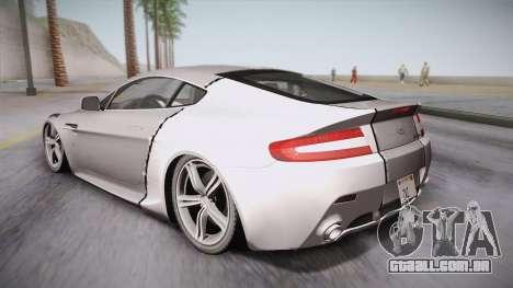NFS: Carbon TFKs Aston Martin Vantage para GTA San Andreas esquerda vista