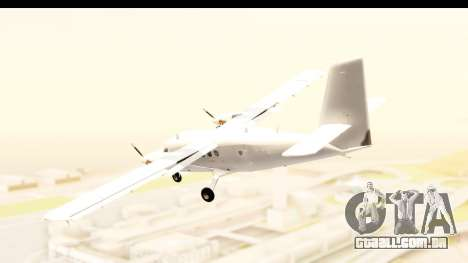 DHC-6-400 All White para GTA San Andreas esquerda vista