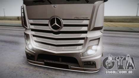 Mercedes-Benz Actros Mp4 6x2 v2.0 Steamspace para GTA San Andreas traseira esquerda vista