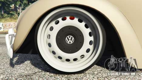 GTA 5 Volkswagen Fusca 1968 v0.8 [replace] vista lateral direita