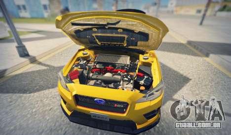 Subaru WRX STI S207 NBR CHALLENGE YELLOW EDITION para GTA San Andreas vista interior