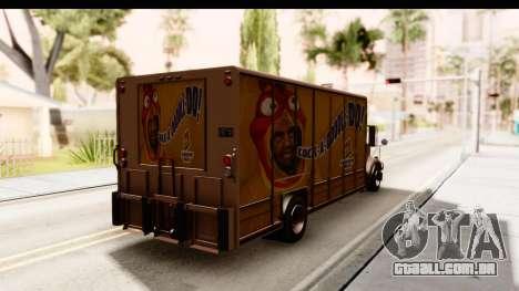 GTA 4 Vapid Benson para GTA San Andreas traseira esquerda vista