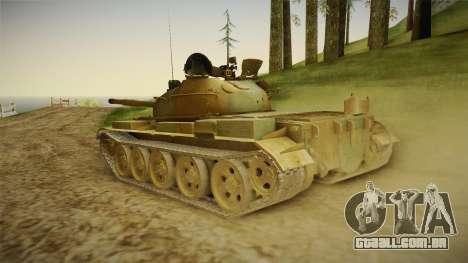 T-62 Desert Camo v2 para GTA San Andreas esquerda vista