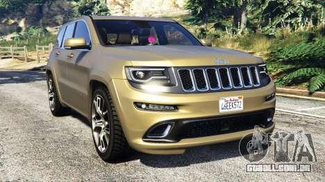 Jeep Grand Cherokee SRT-8 2014 [replace] para GTA 5