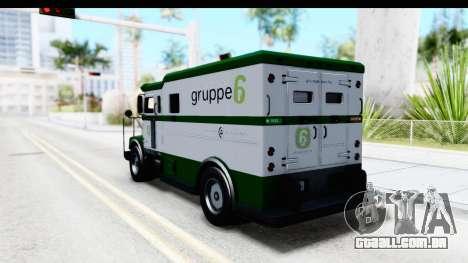 GTA 5 Stockade v1 para GTA San Andreas traseira esquerda vista