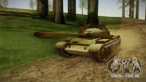 T-62 Desert Camo v2 para GTA San Andreas traseira esquerda vista