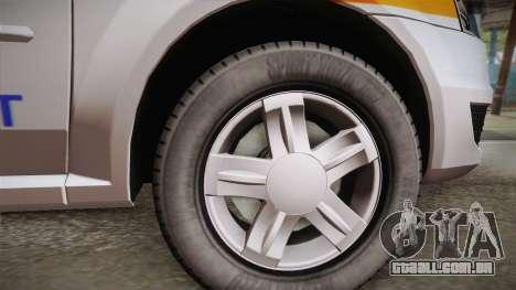 Dacia Logan Facelift Ambulanta v3 para GTA San Andreas traseira esquerda vista