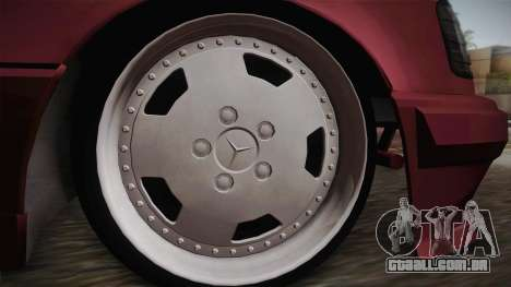 Mercedes-Benz E500 German Style para GTA San Andreas traseira esquerda vista