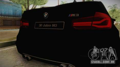 BMW M3 F30 para GTA San Andreas vista direita