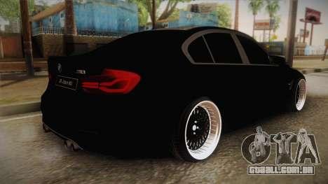 BMW M3 F30 para GTA San Andreas esquerda vista
