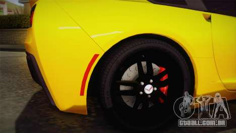 Chevrolet Corvette Stingray 2015 para GTA San Andreas vista traseira