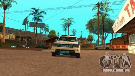 O Range Rover Sport ДПС para GTA San Andreas vista direita