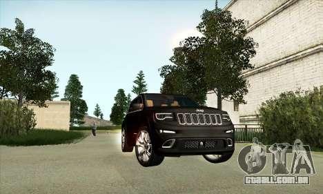 Jeep Cherokee SRT 8 para GTA San Andreas esquerda vista