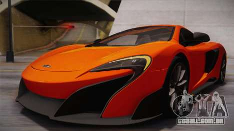 McLaren 675LT 2015 10-Spoke Wheels para GTA San Andreas vista superior