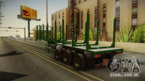 MAZ 99864 Trailer v2 para GTA San Andreas traseira esquerda vista