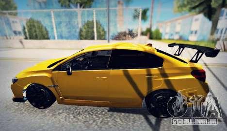 Subaru WRX STI S207 NBR CHALLENGE YELLOW EDITION para GTA San Andreas esquerda vista