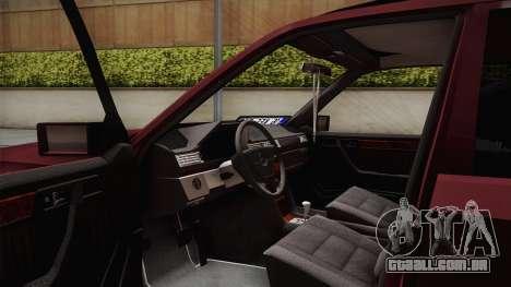 Mercedes-Benz E500 German Style para GTA San Andreas vista traseira