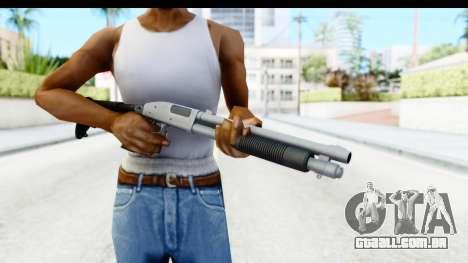 Tactical Mossberg 590A1 Chrome v4 para GTA San Andreas terceira tela