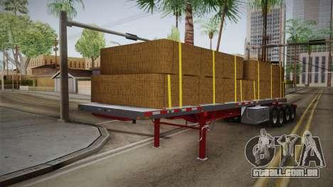 Trailer Americanos v2 para GTA San Andreas traseira esquerda vista