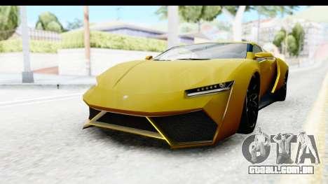 GTA 5 Pegassi Reaper IVF para GTA San Andreas traseira esquerda vista