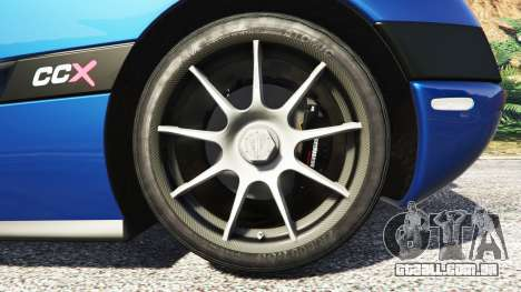 GTA 5 Koenigsegg CCX 2006 [Autovista] v2.0 [replace] traseira direita vista lateral