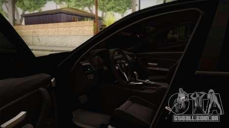 BMW M3 F30 para GTA San Andreas vista interior