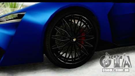 GTA 5 Pegassi Reaper SA Style para GTA San Andreas vista traseira