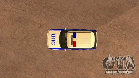 O Range Rover Sport ДПС para vista lateral GTA San Andreas