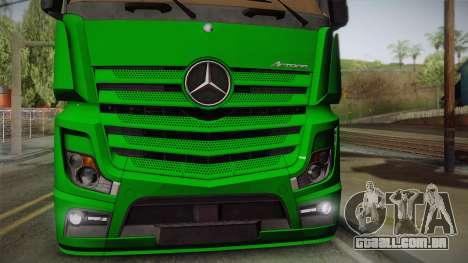Mercedes-Benz Actros Mp4 4x2 v2.0 Gigaspace para GTA San Andreas vista direita