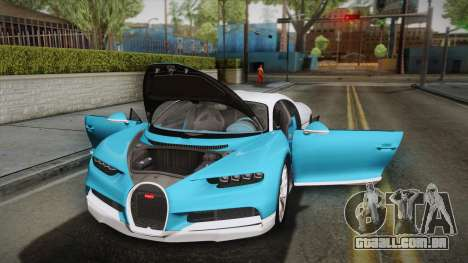 Bugatti Chiron 2017 v2.0 Korean Plate para GTA San Andreas vista superior