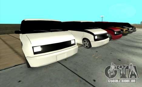Moonbeam Kaef para GTA San Andreas traseira esquerda vista