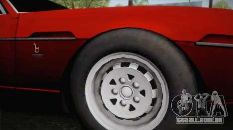 Lamborghini Espada S3 39 1972 para GTA San Andreas traseira esquerda vista