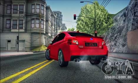 Subaru WRX 2015 para GTA San Andreas esquerda vista