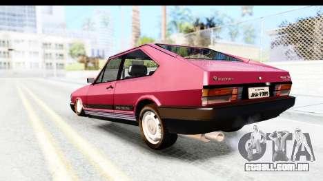 Volkswagen Passat Pointer GTS 1.8 1988 para GTA San Andreas esquerda vista
