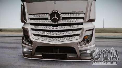 Mercedes-Benz Actros Mp4 6x2 v2.0 Steamspace para GTA San Andreas vista traseira