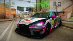 Mitsubishi Lancer Evolution X 2008 Racing Miku para GTA San Andreas