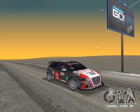 Audi RS3 Sportback Rally WRC para vista lateral GTA San Andreas