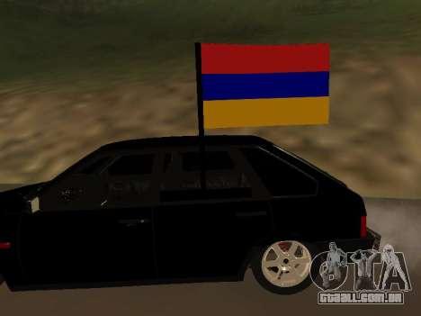 VAZ 2109 Armenian para GTA San Andreas vista direita