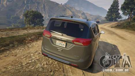 GTA 5 Chrysler Pacifica Limited 2017 traseira vista lateral esquerda