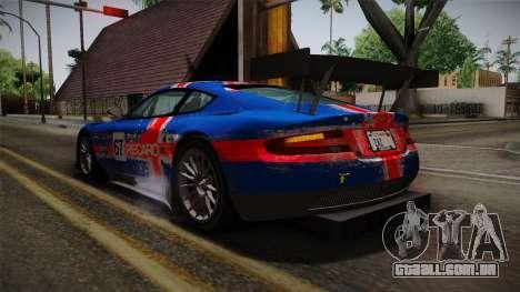 Aston Martin Racing DBRS9 GT3 2006 v1.0.6 para GTA San Andreas