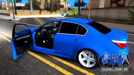 BMW E60 520D M Technique para GTA San Andreas vista traseira