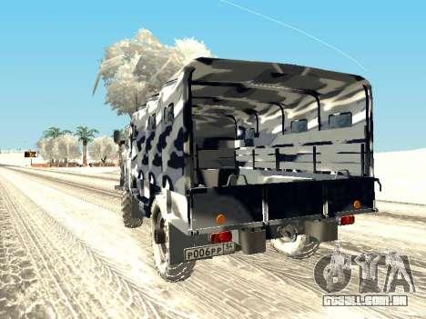 GAZ-66 para GTA San Andreas esquerda vista