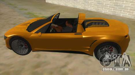 GTA V Dynka Jester Spider para GTA San Andreas esquerda vista
